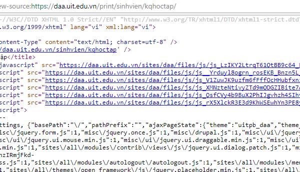 Code html trang in bảng điểm có link css, css tạo bằng cache